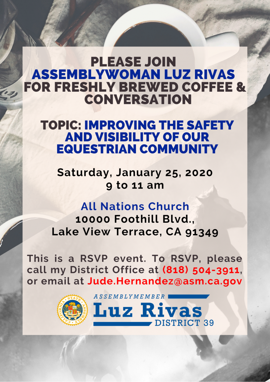 Assemblywoman Luz Rivas Coffee and Conversation