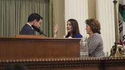 Asm. Rivas taking oath