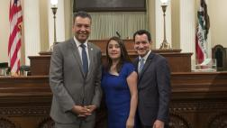 Asm. Rivas with the Speaker